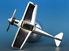 Art Deco Streamline Dollin Diecasters Co. Nickel Plated Airplane Lighter  image 9
