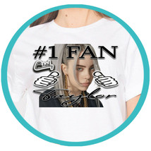 Billie Eilish Merch Custom Shirts Personalized T Shirts Novelty Gift Ide... - $15.99