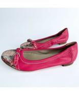 AGL Jelly Pink, Silver, Snakeskin Ballet Flats/ Buckle- Size 37.5 - $64.35