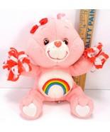 """Care Bears Baby Cheer Bear with Pom Poms Hair Bow Rainbow Heart 7"""" RARE ... - $16.92"""