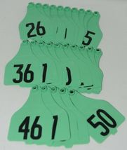 Destron Fearing DuFlex Visual Livestock Id Panel Tags XL Green 25 Sets 26-50 image 5
