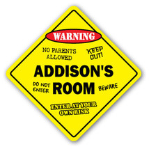 ADDISON'S ROOM SIGN kids bedroom decor door chi... - $7.11