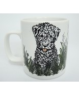 Puppy Dog in Grass Mug by Nina Textured Stoneware Made in England - $14.10