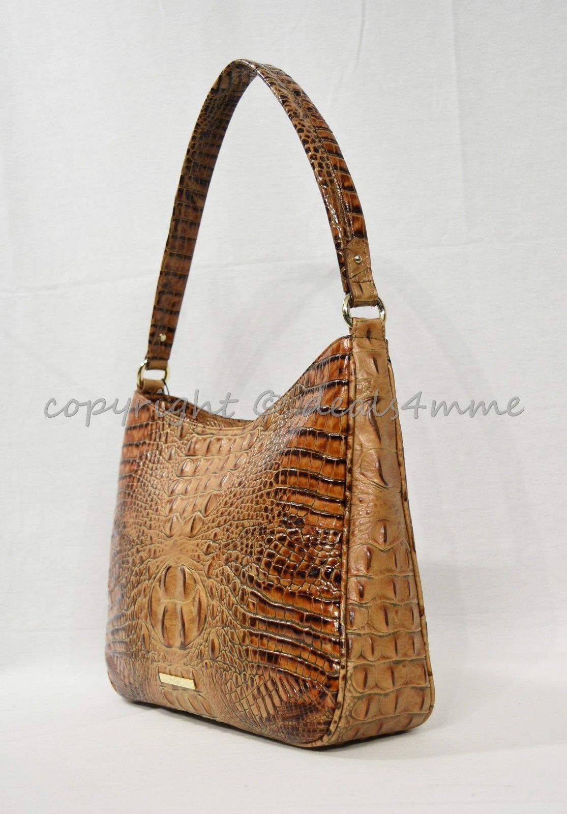 NWT Brahmin Noelle Leather Tote / Shoulder Bag in Toasted Almond Melbourne image 8