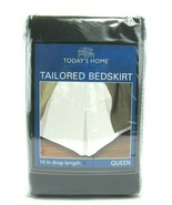 """Todays Home Tailored Bed Skirt 100% Polyester Full (60"""" X 80"""") + 14"""" Dro... - $16.07"""