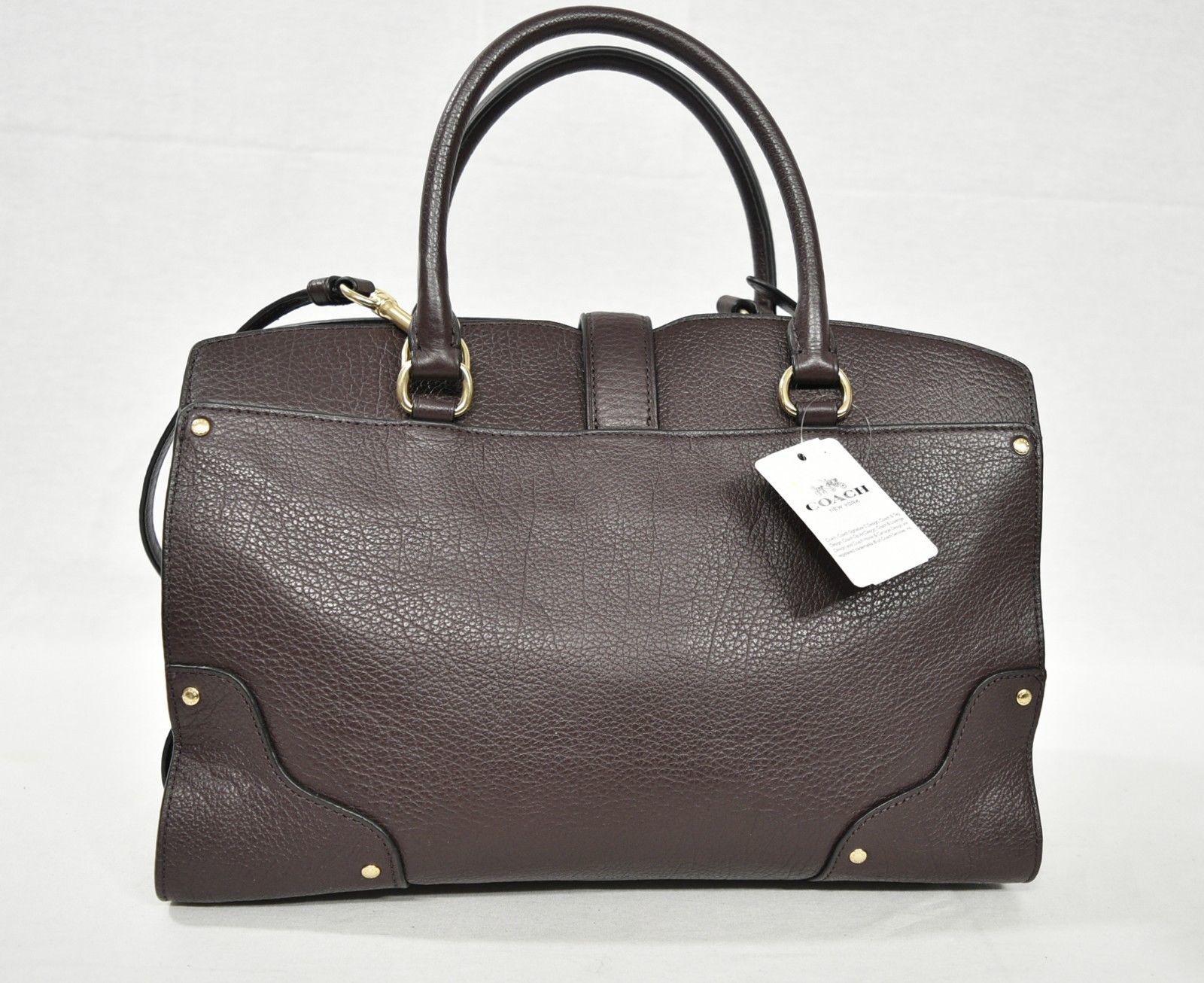 256e72806b15 NWT Coach 37575 Grain Leather Mercer 30 Satchel Shoulder Bag in Oxblood