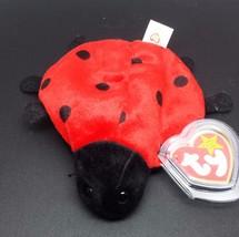 "Ty Beanie Baby Lucky Red Lady Bug 5"" Bean Plush Stuffed Animal - $7.43"