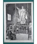 "ARTIST STUDIO Colossal Statue German Emperor - VICTORIAN Era Print 15"" x... - $20.16"