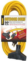 Prime EC600830 50-Foot 12/3 SJTW Triple-Tap Extra Heavy Duty Outdoor Ext... - $59.74
