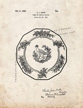 Plate Patent Print - Old Look - $7.95+