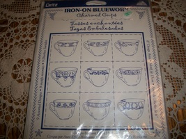 Dritz Iron-On Bluework: Charmed Cups Kit - $12.00