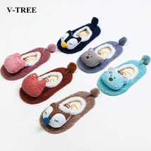 V-TREE Winter Baby Socks Cartoon Chidren Sock Rubber Sole Girls Boys Non... - $5.58
