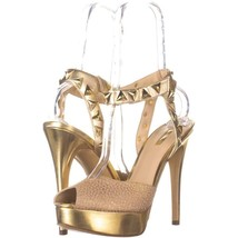 GUESS Kaydee Woven Platform Ankle Strap Sandals 884, Natural Multi, 9 US - $36.47