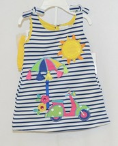 Rare Editions 2 Piece Set Summer Dress Scooter Umbrella Bloomers Size 12 Months image 1