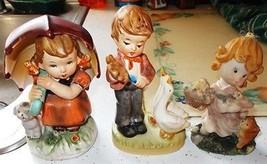 ~~ Lot of 3 Vintage Children Figurines - Arnart 5th Ave & Unknown ~~ MUS... - $6.00