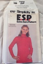 1978 Simplicity Sewing Pattern 8787 Miss Size 10-12-14 Top Uncut - $5.45