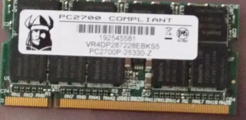VR4DP287228EBKS5 1GB DDR PC2700 DDR-333MHZ 64X8 18CHIPS 200PIN SODIMM ECC TESTED