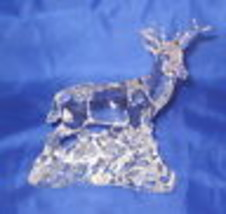 DEER Princess House Lead Crystal Wonders of the Wild NWOB  - $58.40