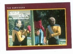 Star Trek The Next Generation card #180 The Survivors Data Leforge Riker Worf