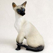 SIAMESE CAT Figurine Statue Hand Painted Resin Gift - $17.25