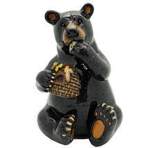 Pacific Giftware Animal World Black Bear Eating Honey Resin Figurine - $19.79