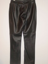 Express Black Faux Leather Pants Vegan Vinyl Goth Punk Party-7/8 - $14.52