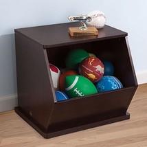 KidKraft 14172 Kids Stackable Espresso Single Toy Storage Unit Wood Cubby Bin - $59.95