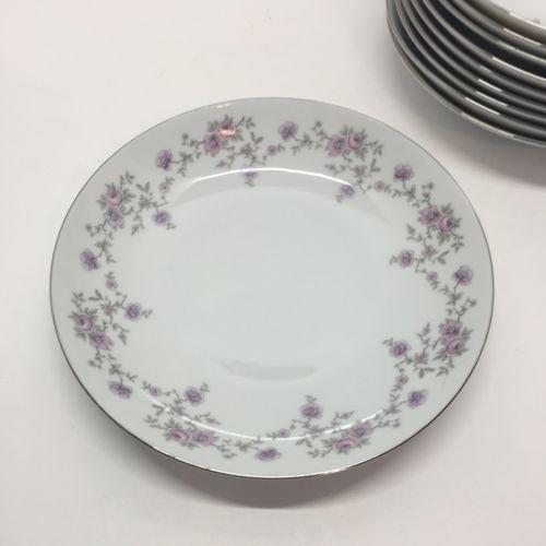 HAVILAND BAVARIAN CHINA SET OF 6 SOUP BOWL 7 1/2  WIDE PURPLE u0026 PINK FLOWERS & Haviland Bavarian China Set Of 6 Soup Bowl 7 and 11 similar items