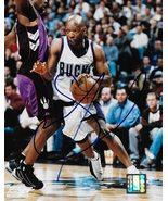 Sam Cassell Milwaukee Bucks signed basketball 8x10 photo COA - $64.99