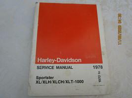 Vintage Harley Davidson Service Manual 1978 Sportster  - $44.99