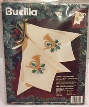 Angels Of Christmas Bucilla 4 Stamped Napkins Cross Stitch 16 x 16 New 1995 - $12.16