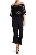 Foxiedox Daisy Open Back Lace Jumpsuit black size XL MSRP$214.00 - $33.66