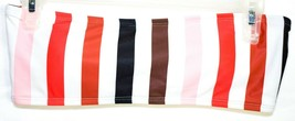 Zaful Pink Brown White Black Color Bar Striped Bandeau Bikini Top US 4 | UK 8