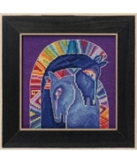 Embracing Horses 2017 Horses Collection LINEN cross stitch kit Laurel Bu... - $17.10