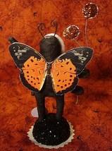 Vintage Inspired Spun Cotton Moth Girl Ornament Christmas or Halloween no. 225 image 2