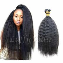 Brazilian I Tip Human Hair Extension Kinky Straight Remy Stick I Tip Hair Africa - $64.35