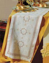Hardanger Bell Pull  Star Tablecloth Runner Christmas Tree Center Cloth ... - $11.99