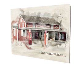 The Old Village Store & Hardware of Yesterday 16x20 Aluminum Wall Art - $59.35