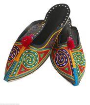 Women Slippers Mojari Indian Handmade Flip-Flops Traditional Clogs Flat US 5 - $24.99
