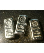 10 Troy oz Scottsdale Mint Loaf Poured CHUNKY .999 Lion Silver Bars ounce - $399.00