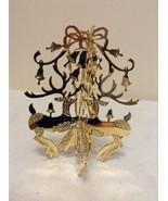 """Danbury Mint - 1990 Gold Christmas Ornament -  """"Prancing Deer"""" (B7) - $13.95"""