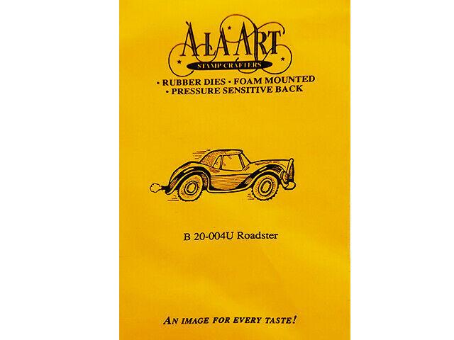 A La Art Stamp Crafters Roadster Rubber Stamp #B20-004U