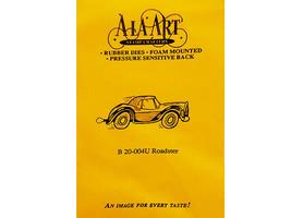 A La Art Stamp Crafters Roadster Rubber Stamp #B20-004U image 1