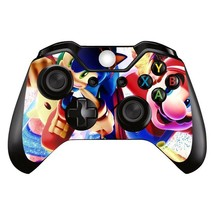 Xbox One XB1 Sonic & Mario (1) Controller Decal Vinyl Cover Skin Wrap St... - $7.80
