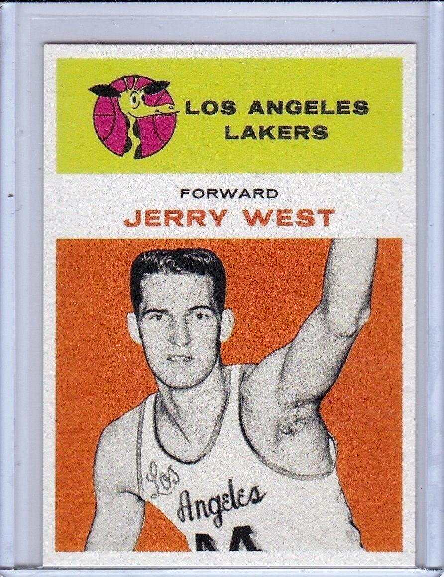 1961  FLEER BASKETBALL  - JERRY WEST Rookie RP  #43