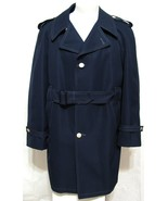 Season Mates All Weather Trench Coat Navy Blue 40 R Sailor Buttons Best ... - $59.35