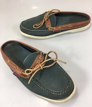 Sebago Docksides Womens 8 M Navy Blue Brown Lea... - $43.61