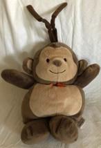 Carters Musical Monkey Plush Crib Toy Pull Down Brahms Lullaby Orange Bo... - $18.80