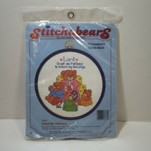 """Grant Me Patience Cross Stitch Kit Stitchables 6"""" Round Hoop - $9.74"""