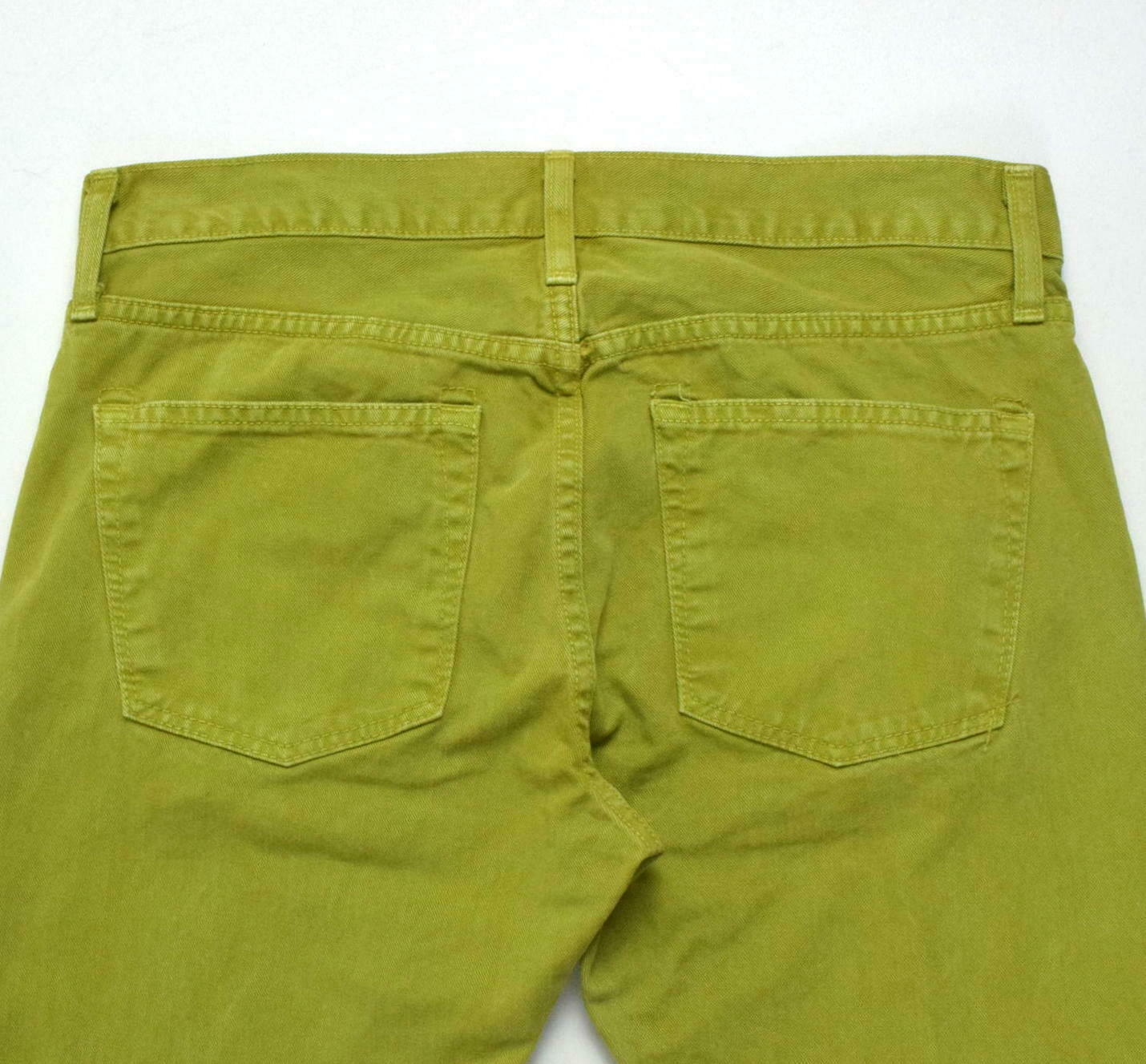 J Brand Green Denim Button Fly Jeans Pants Boot Cut Womens Size 32 x 32.5 image 4
